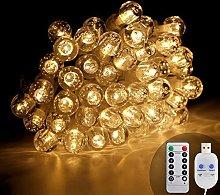 KooPower 100 LED USB Powered Crystal Ball Fairy