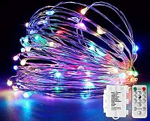 Koopower 39ft 100 LEDs Battery Operated Fairy