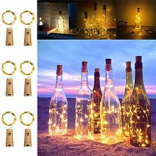 KooPower Bottle Lights with Cork, [6 Pack] 2M 20