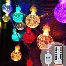 Koopower Christmas Fairy Lights USB Plug in, 48