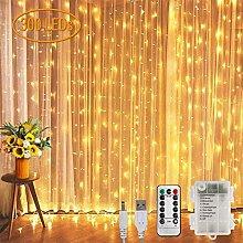 Koopower Curtain Fairy Lights, 3m x 3m 300LED