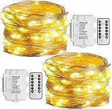 Koopower Fairy Lights Battery Operated [2 Pack] 50