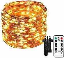 Koopower Fairy Lights Plug in, [Remote & Timer]