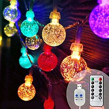 Koopower Garden Fairy Lights USB Plug in, 48