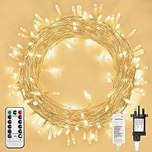 Koopower Outdoor Fairy Lights Mains Powered, 72FT