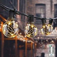 Koopower Outdoor String Lights [Remote & Timer]