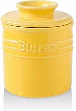 KOOV Ceramic Butter Keeper Crock, French Butter