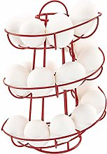 Koowaa Egg Spiraling Dispenser Rack Wire Chicken