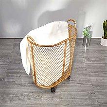 KORANGE Rolling Laundry Basket with Wheels Wire