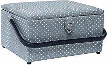 Korbond Large Tiny Dots Sewing Basket –L24cm
