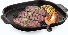 Korean BBQ Nonstick Grill Pan - Induction Stovetop