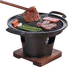 Korean family barbecue burn smokeless grill room