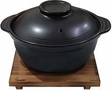 Korean Premium Ceramic Black Casserole Clay Pot