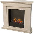 Kos Sourround Corner Fireplace - White Stone