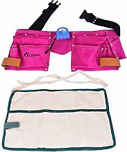 Kosma 11 Pockets Leather Carpenter Tool Apron in