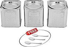 Kosma Set of 3Pc Stainless Steel Tea Sugar Coffee