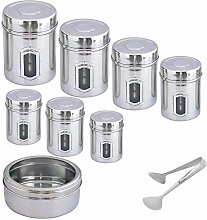 Kosma Set of 8 Stainless Steel Storage Canister  