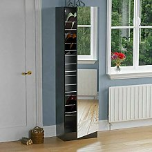 KOSY KOALA Mirrored Shoe Cabinet Hallway Cupboard