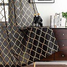 Kotile Black Gold Curtains for Living Room -