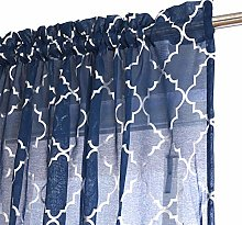 Kotile Blue Moroccan Curtains for Living Room -