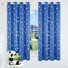 Kotile Blue Star Curtains for Boys Room - Thermal
