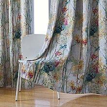 Kotile Floral Design Print Short Window Drapes