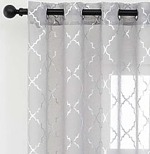 Kotile Gray Voile Curtains 72 Inch Drop - Semi