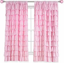 Kotile Horizontal Stripes Style Rod Pocket Girls