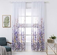Kotile Sheer Curtains for Bedroom - Rod Pocket 96