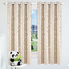 Kotile Star Eyelet Blackout Curtains - Metallic