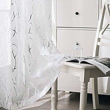 Kotile Tree Window Curtains for Bedroom - Metallic