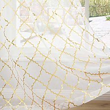 Kotile Voile Eyelet Curtains 66 x 72 Drop - Semi