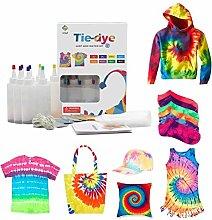 Kousa DIY Dye Kit,18 Colors Tie Dye Shirt Fabric