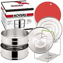 KOYSAS Stackable Steamer Insert Pans Compatible