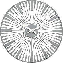 Koziol Piano Wall Clock, Cool Grey, 3.2 x 45 x 45