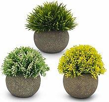 Kozy Artificial Plant - Set of 3 - Grey Pots -