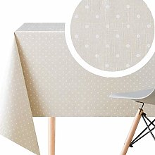 KP HOME Spotted Cream Polka Dot Design Wipe Clean