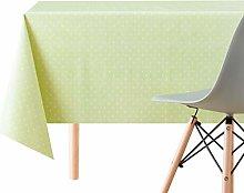 KP HOME Spotted White Polka Dot Design On Lime