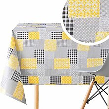 KP HOME Wipe Clean Pattern Tablecloth With Classy
