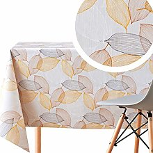 KP HOME Wipe Clean Tablecloth Brown With Cream