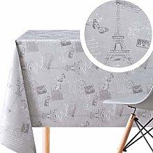 KP HOME Wipe Clean Tablecloth - Paris France