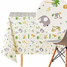 KP HOME Wipe Clean Tablecloth Reusable In Light