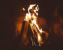 Kpoiuy Fireplace Fire Flame Wood Dark