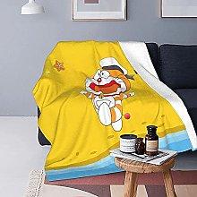 KPSHY Doraemon Flannel Anime Blanket Microfiber
