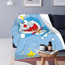 KPSHY Doraemon Flannel Cartoon Blanket Microfiber