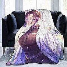 KPSHY Flannel Anime Blanket Demon Slayer Kochou