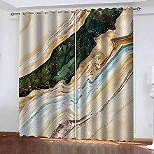 KQDMYT 3D Blackout Eyelet Curtain Abstract Texture