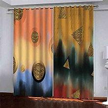 KQDMYT Blackout Curtain Living Room Darkening
