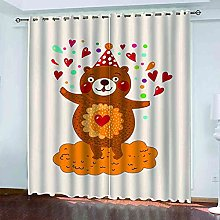 KQDMYT Blackout Curtain Thermal Insulated Cartoon