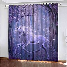 KQDMYT Blackout Curtain Thermal Insulated Purple